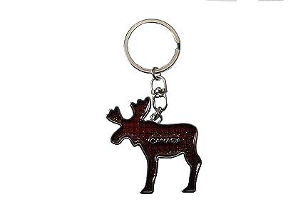 Amazon.com  CANADA Red Moose SHAPE Metal Keychain .. New  Automotive 4fe893e6f0b9