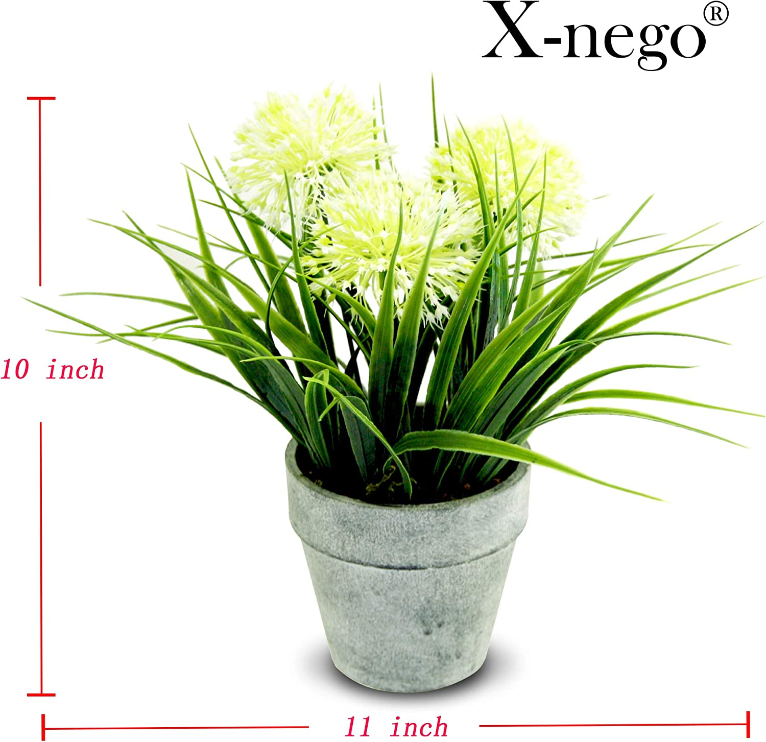 Artificial Plants Faux Succulent Potted Fake Plants with Gray Imitation Stone Pots for Home Office Tabletop Decoration