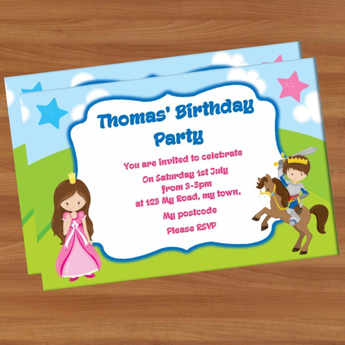 10 invitaciones Fiesta Cumpleaños A6 brillante pi11 ...
