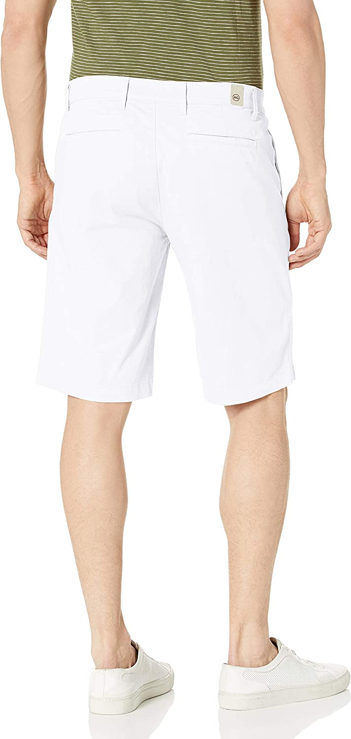 AG Adriano Goldschmied Mens Griffin Short in Wht