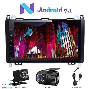 """Android 7.1 Autoradio, Hi-azul 1 Din Radio de Coche 9"""" Navegación GPS"""