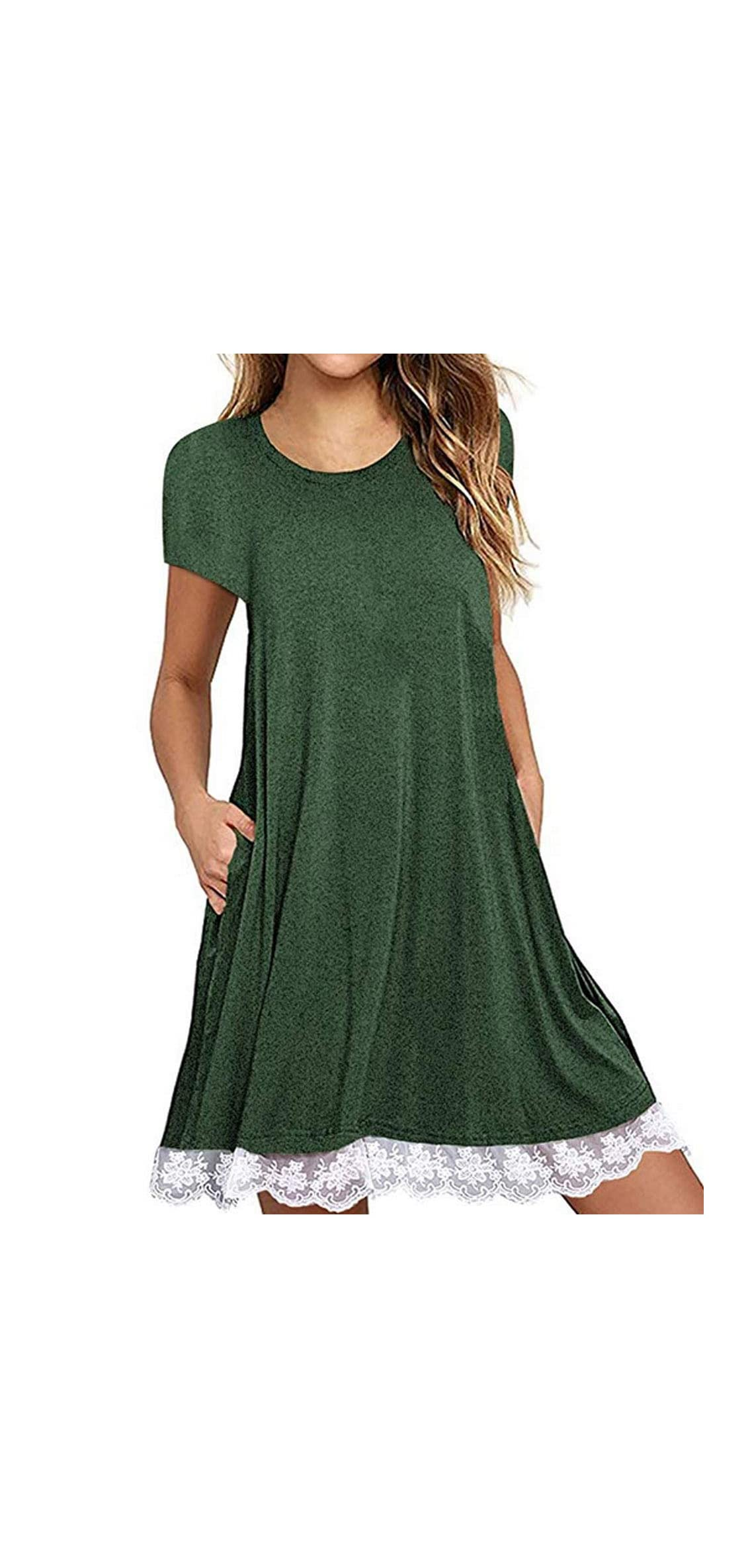 Women's Summer Fall Short Sleeve/long Sleeve Lace Hem