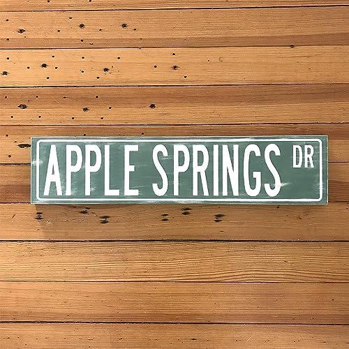 Amazon.com: Wooden Street Signs Custom Name Wall Art Street Signs ...