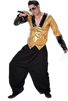Generique - Disfraz Rapero de los años 80 Hombre S: Amazon.es ...