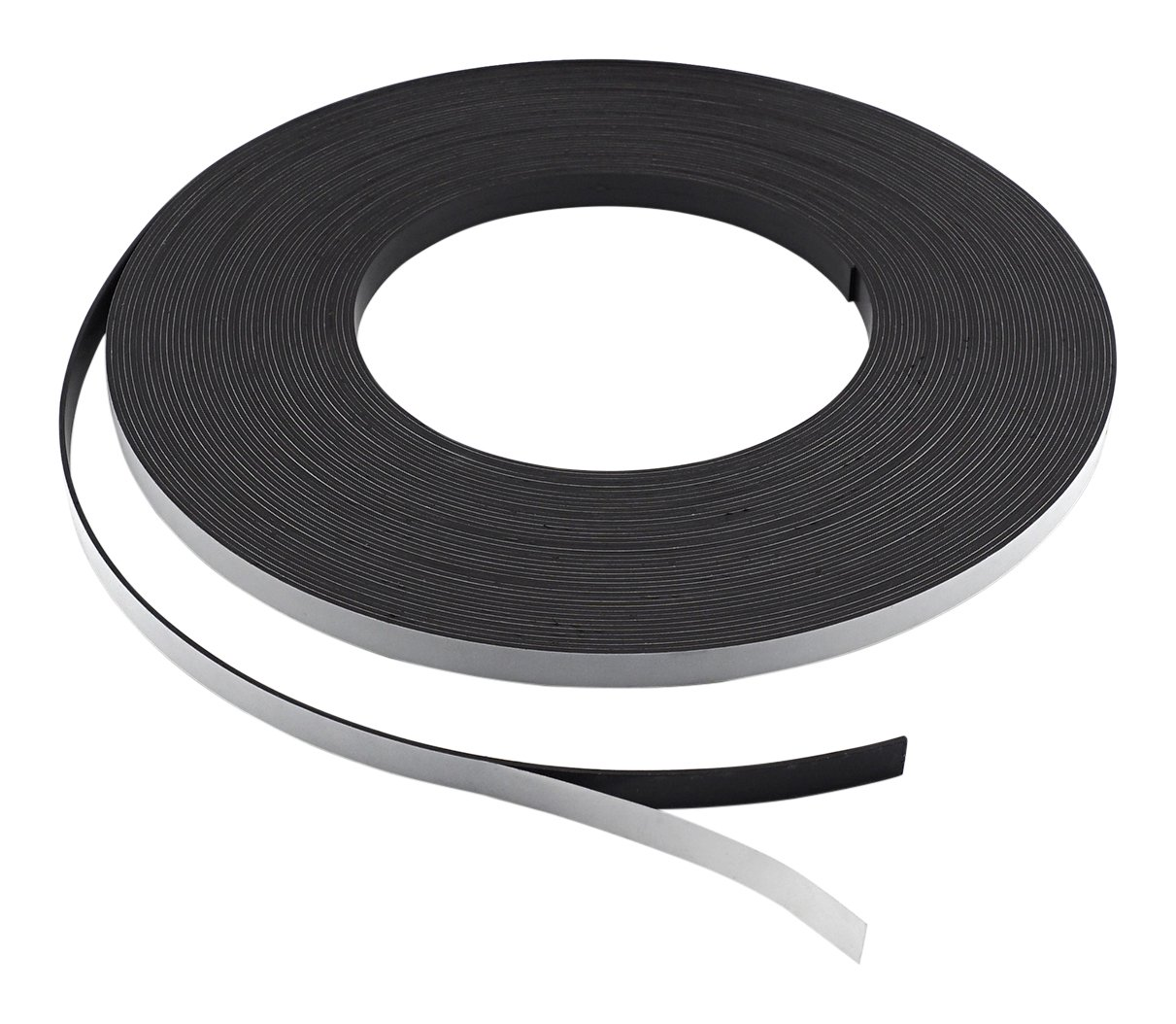 Master Magnetics ZG05A-ABX Flexible Magnet Strip with Adhesive Back, 1/16'' Thick, 1/4'' Wide, 100' (1 Roll)