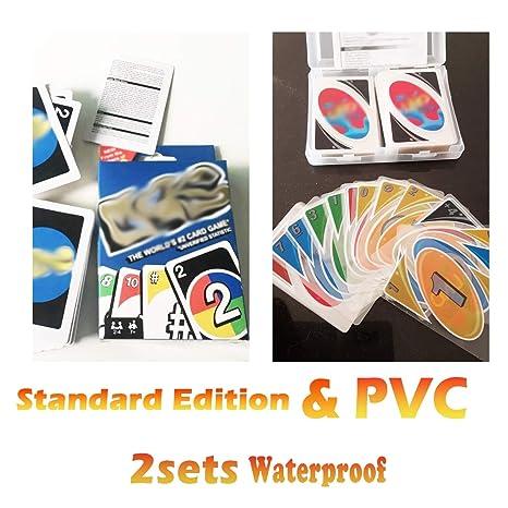 YYBF Juego De Cartas, Transparente PVC + Tarjeta Azul 2Set ...