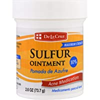 De La Cruz, Sulfur Ointment, Acne Medication, Maximum Strength, 2.6 oz (73.7 g)