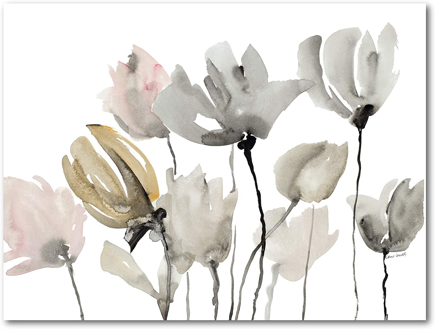 Courtside Market Gray Tulips 16 X20 Gallery Wrapped Canvas Wall Art Flowers Nature White Green Tan 16x20 Multi Color Posters Prints Amazon Com