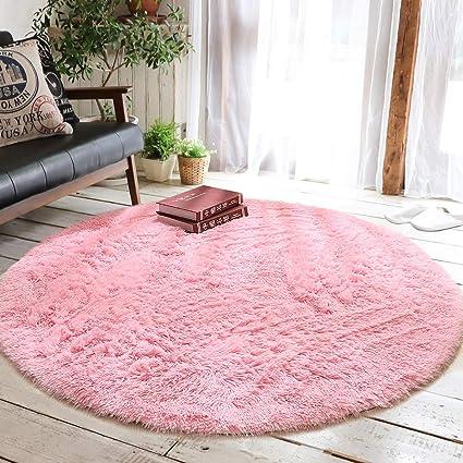Amazon.com: Junovo Round Fluffy Soft Area Rugs For Kids Room Children Room  Girls Room Nursery,4 Feet,4 Feet,Pink: Home U0026 Kitchen