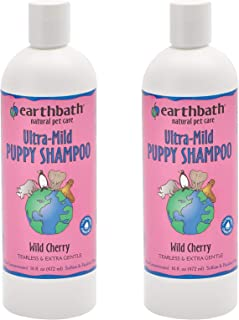 product image for Earthbath Ultra-Mild Wild Cherry Puppy Shampoo - Tearless & Extra Gentle, Aloe Vera, Vitamin E - Leave Your Pup Smelling and Feeling Better Than Ever - 16 fl. oz, Pack of 2