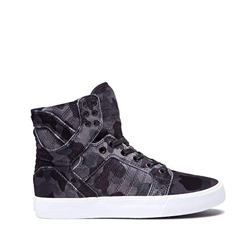 78cd57358338 Supra Womens Womens Skytop Black Camo White Shoes Size  Amazon.ca ...