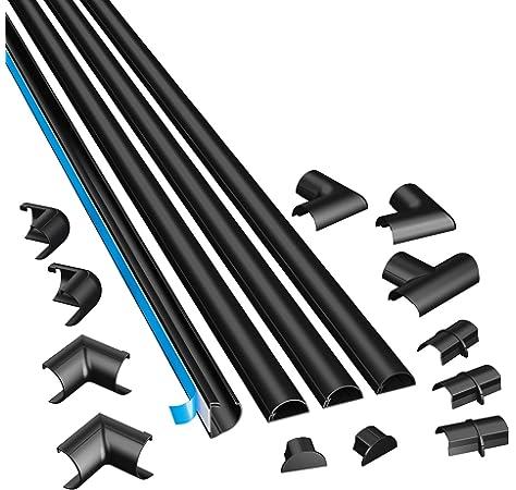 D-Line 1M5025B Canaleta, Negro, 1 Metro: Amazon.es: Bricolaje y herramientas