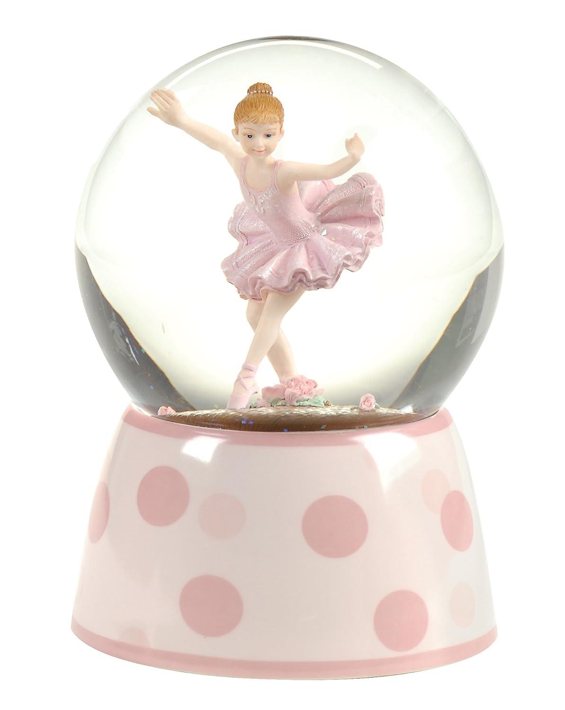 100MM 5.75 inch Roman Ballet Gifts Ballerina Musical Glitterdome