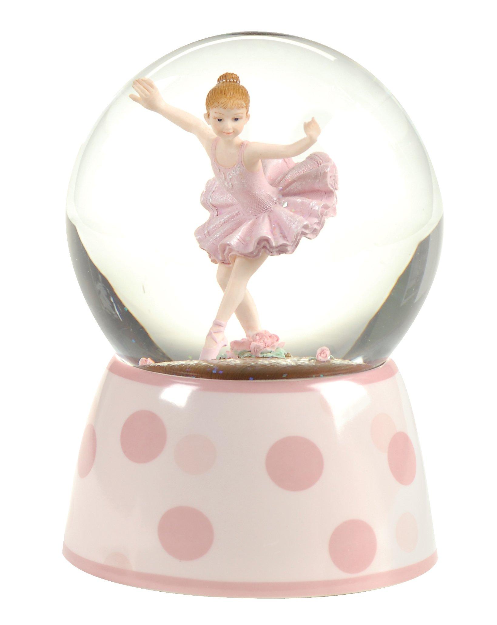 Ballet Gifts Ballerina Musical Glitterdome, 100MM, 5.75 inch