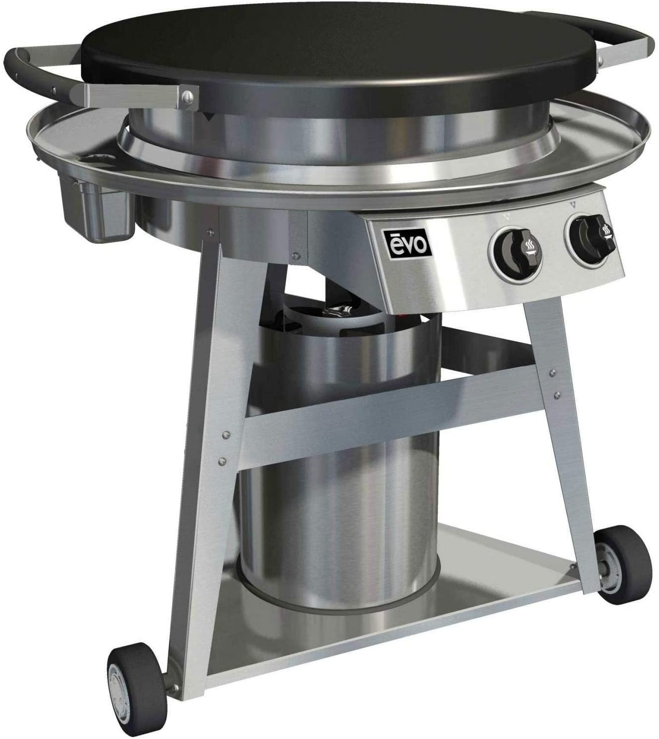 Amazon Com Evo Professional Series Gas Grill On Cart 10 0002 Lp Seasoned Steel Cooktop Propane Garden Outdoor Evo is designed and built in america. evo professional series gas grill on cart 10 0002 lp seasoned steel cooktop propane