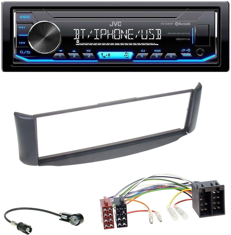 Jvc x351bt MP3 Bluetooth USB AUX Radio de coche para Smart Fortwo ...