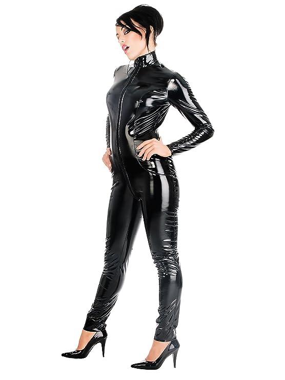 06f5a019fce Amazon.com  Honour Women s Catsuit in PVC Black size UK 24 (5XL)  Clothing