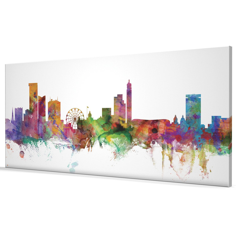 Birmingham England Skyline Box Canvas Print #7
