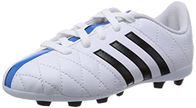 127f07242 adidas Boys  11 Questra FxG J Football Boots (Race Shoes) White Size