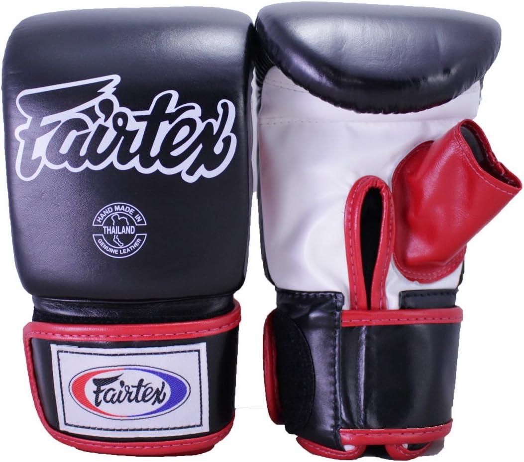FAIRTEX MUAY THAI KICK BOXING GLOVES TGO3 BLACK COLOR OPEN THUMB BAG GLOVE MMA