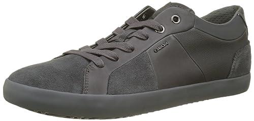 Geox U Smart A - Zapatillas de Piel para Hombre Gris Gris 40 iTKxj