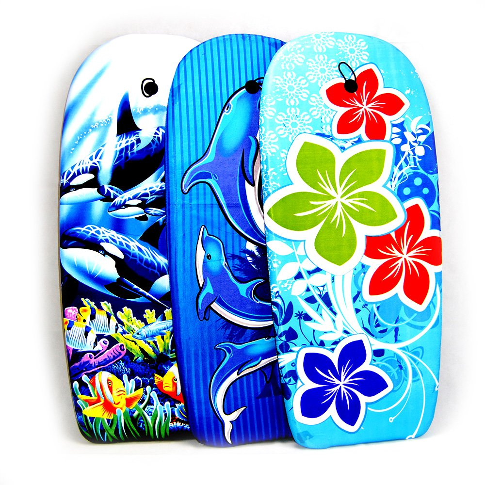 EPS Body Board//Tabla Surf 104 CM-Dibujo delfines-Cocovery19: Amazon.es: Deportes y aire libre
