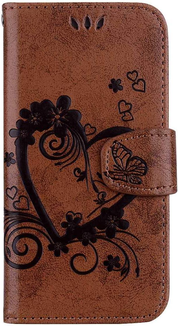 Blau Samsung Galaxy A6 Plus H/ülle,THRION PU Herz Blume Brieftaschenetui mit magnetischer Handschlaufe und St/änderhalterung f/ür Samsung Galaxy A6 Plus