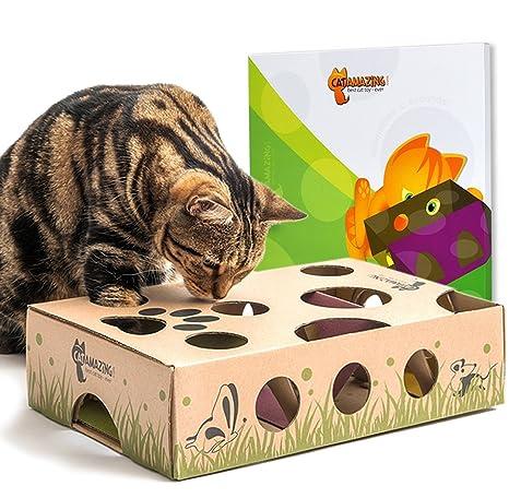 Cat increíble – Mejor Interactivo Gato Juguete Nunca. Treat Maze & Puzzle comedero para Gatos