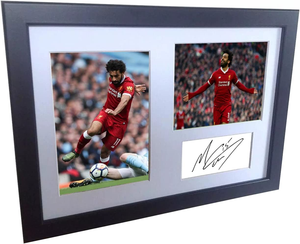 Mohamed Mo Salah 12x8 A4 Signed Liverpool FC - Autographed Photo Photograph Picture Frame Gift Soccer