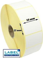 100x100mm Plain WHITE Labels Zebra Type Printer 2,500