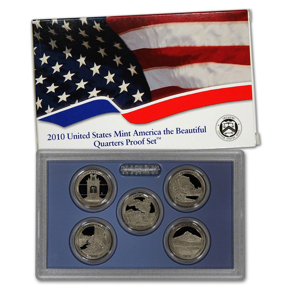 2010 S US Mint Quarters Proof Set Original Government Packaging