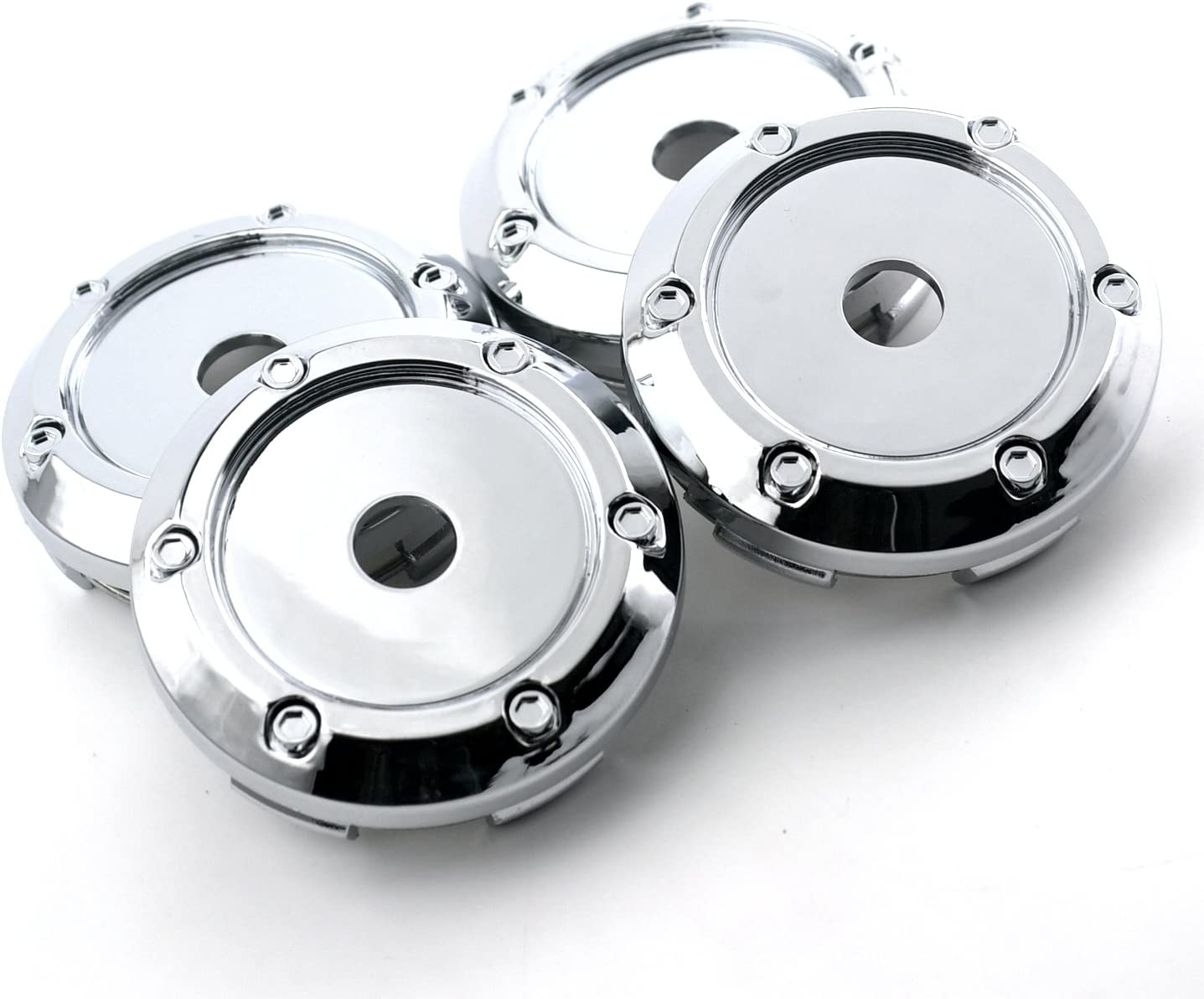 //66mm 3.05in 2.6in Wheel Center Hub Caps 4 pcs Chrome Black for Blazer #15661030 78mm