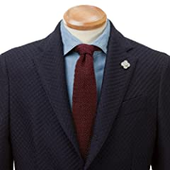 Silk Knit Tie: Burgundy