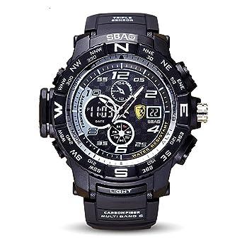 8b9fbf9e9327 HWCOO SBAO Relojes Nuevo Reloj Deportivo de los Hombres Deep Diving  Deeplight Nightlight Reloj electrónico multifunción (Color   1)  Amazon.es   Relojes