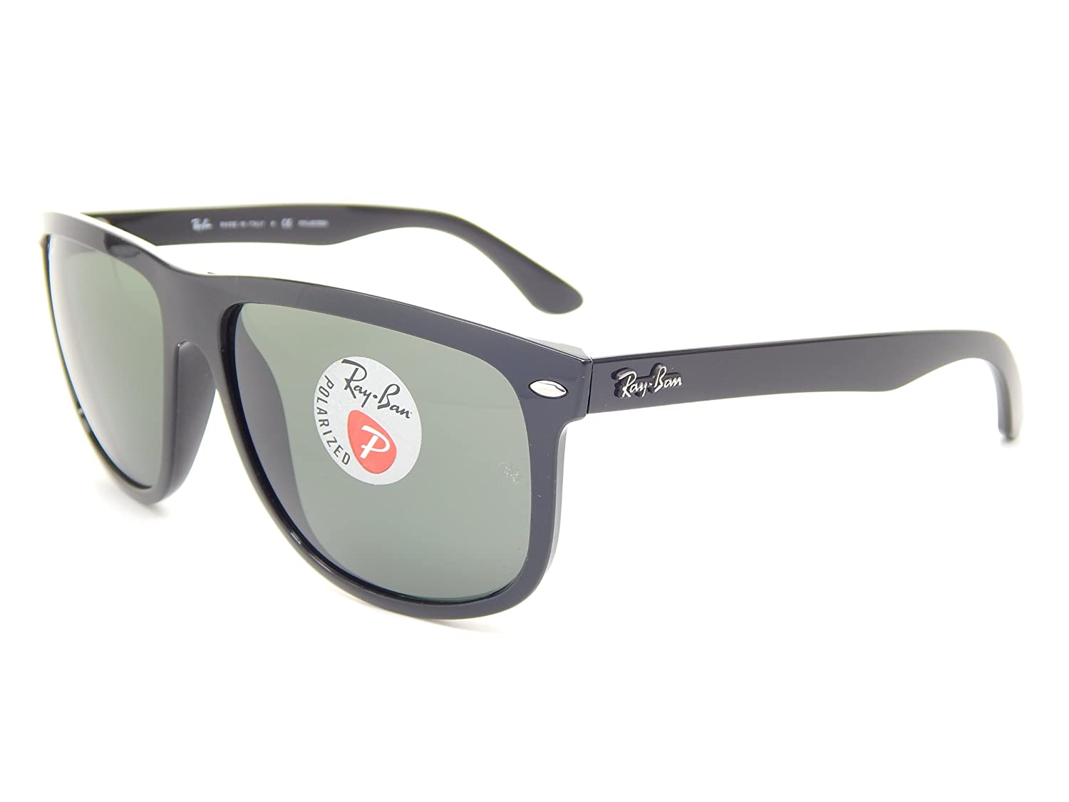 655bf812c7a Amazon.com  Ray Ban RB4147 601 58 Black Green Classic G-15 60mm Polarized  Sunglasses  Clothing