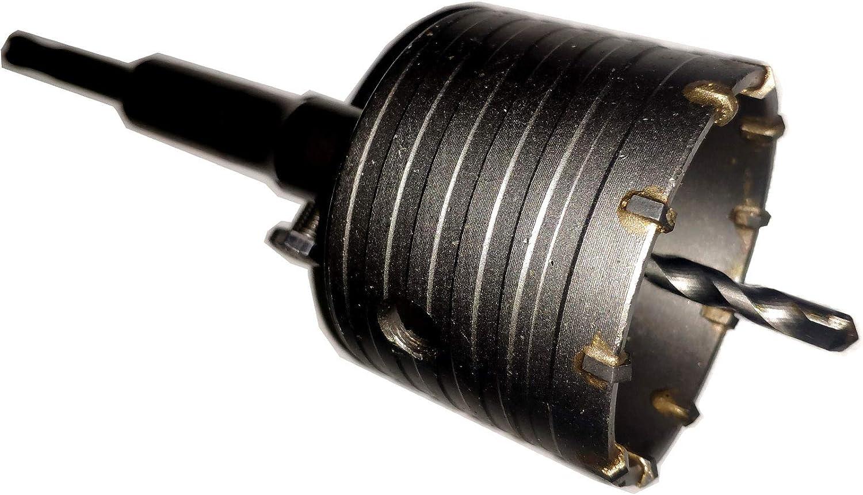 SJWJ SDS PLUS Schlagebohrkrone 45 mm M22 komplette Bohrkrone f/ür Bohrhammer