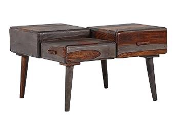 Stylefurniture Ausgefallener Couchtisch Holz Blau Braun 86 X 76 X