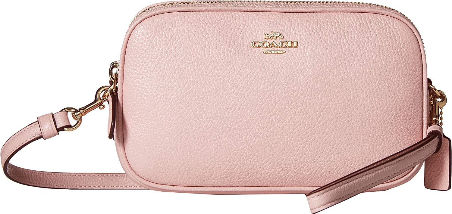 20ddde928 COACH Women's Pebbled Crossbody Clutch Gd/Blossom One Size: Amazon.co.uk:  Shoes & Bags