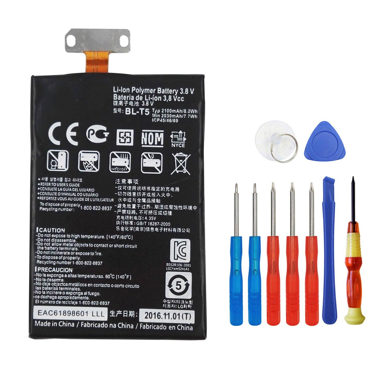 Bateria Celular Wee 2100mAh Li Polymer para Google Nexus 4 E960 fits LG BL T5