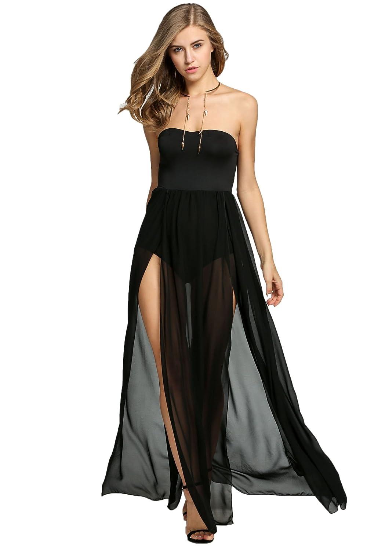 eshion@ Women Strapless Empire Waist Maxi Long Dress