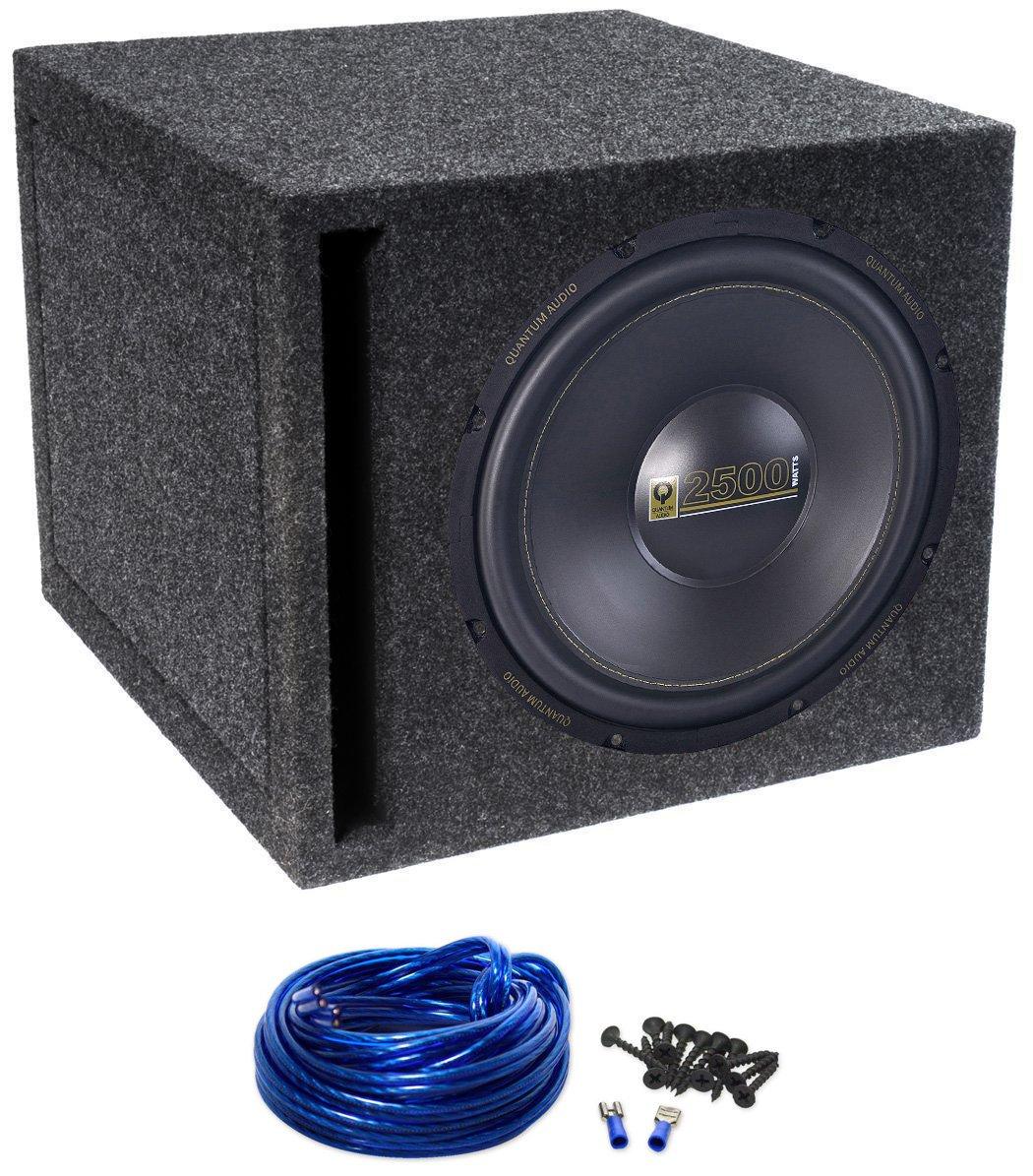 Quantum Audio Qaw15d2 15 2500 Watt Car Subwoofer Vented Sub Box Wiring Diagram Enclosure Electronics
