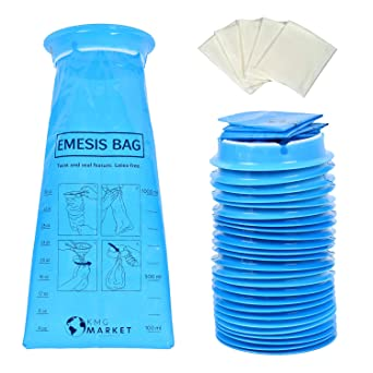 Amazon.com: KMG Mercado 25 unidades bolsas fuertes Vomit ...