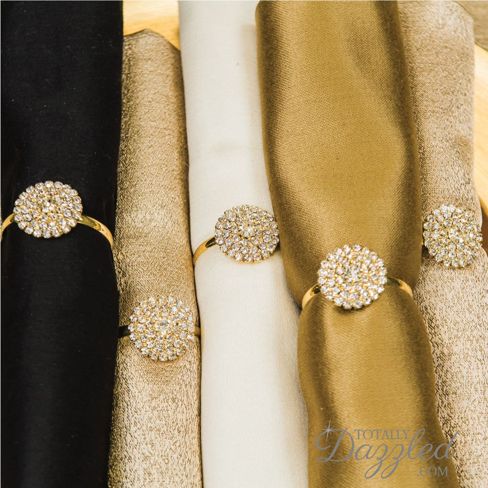 Napkin Rings for Weddings, Parties, and Events 100pc Set Bulk Napkin Rings – Totally Dazzled by Totally Dazzled (Image #2)