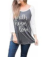 ZANZEA Femme Automne Chemise à Manches Longues Blouse Casual T-shirt Lettre Imprimé Sweatshirt