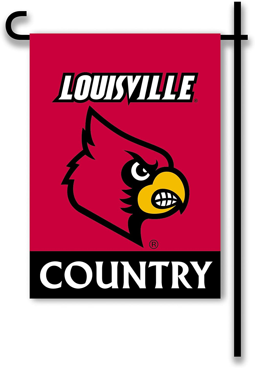NCAA Louisville Cardinals 2-Sided Country Garden Flag, Team Color