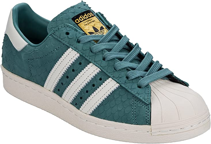 adidas Originals Baskets Superstar 80s Bleu Femme: