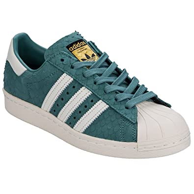 0f4274c99647 adidas Originals Baskets Superstar 80s Bleu Femme: Amazon.fr ...
