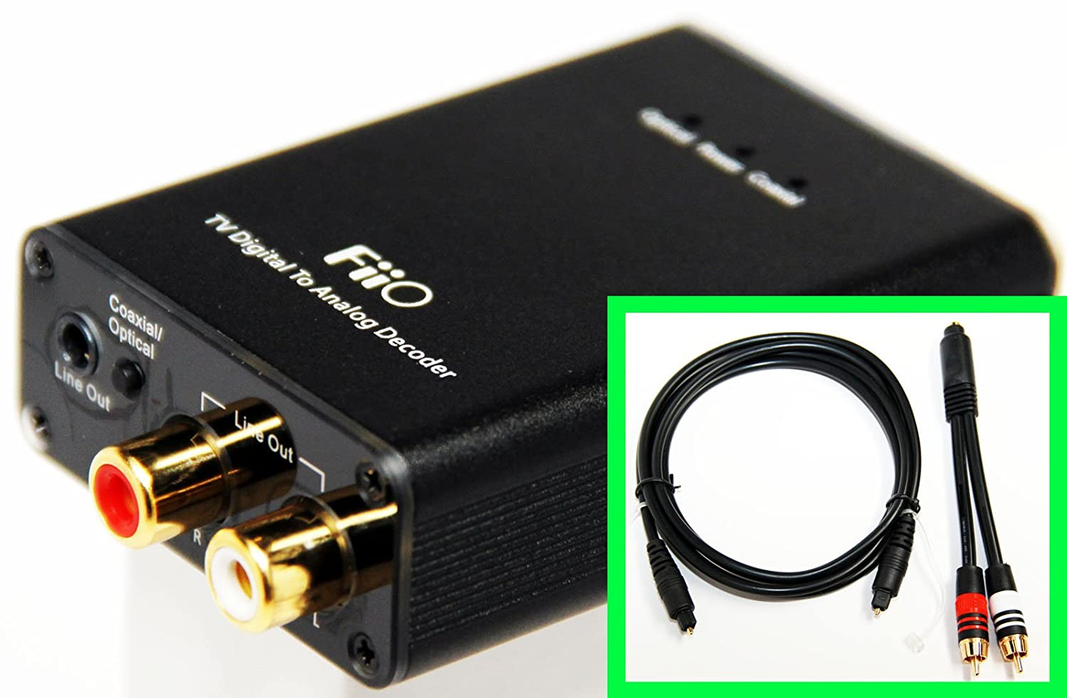 Fiio D3 D03 K Digital To Analog Audio Coverter With Extreme Coaxial Rca Cable Optical Toslink And 192khz 24bit