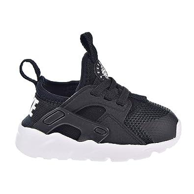 NIKE Huarache Run Ultra Toddler's Shoes Black/White 859594-002 (4 M US