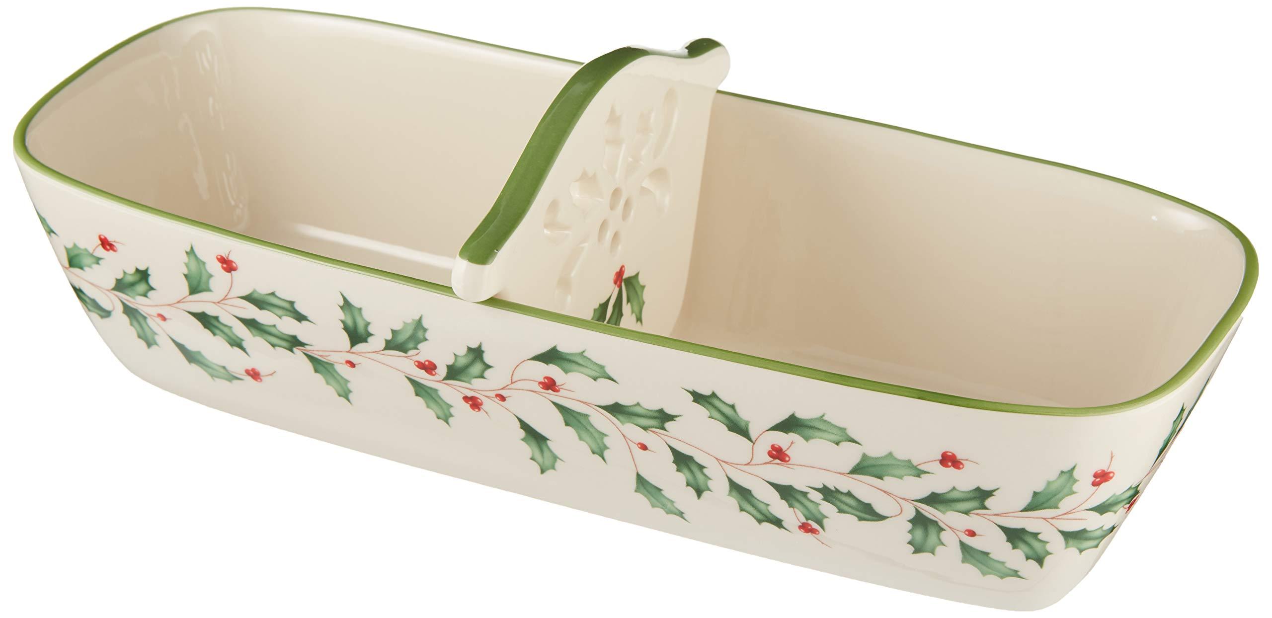 Lenox 879354 Hosting the Holidays Cracker Basket Multicolor